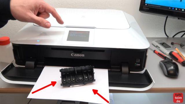 Canon Pixma Druckkopf Fehler 1403 - Druckkopftyp ist nicht korrekt - Druckkopf ist ausgebaut und Drucker wieder eingeschaltet