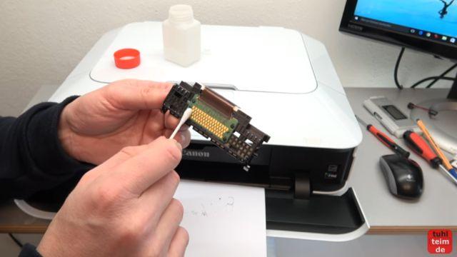 Canon Pixma Druckkopf Fehler 1403 - Druckkopftyp ist nicht korrekt - ausgebauten Druckkopf prüfen, ggf. reinigen und wieder einbauen