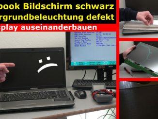 Notebook Bildschirm schwarz - Display zerlegen - externen Monitor aktivieren