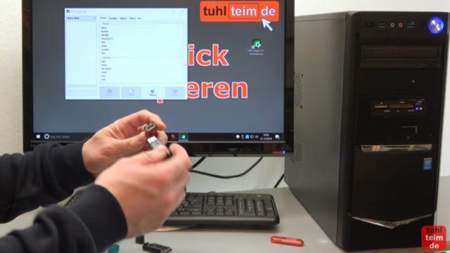 USB Stick kopieren 1 zu 1 - bootfähig - Tool für Windows 10 und 7 - originalen USB-Stick einstecken, der kopiert werden soll