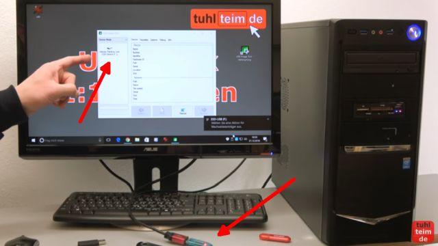 USB Stick kopieren 1 zu 1 - bootfähig - Tool für Windows 10 und 7 - neuer USB-Stick (= Ziellaufwerk) ist eingesteckt
