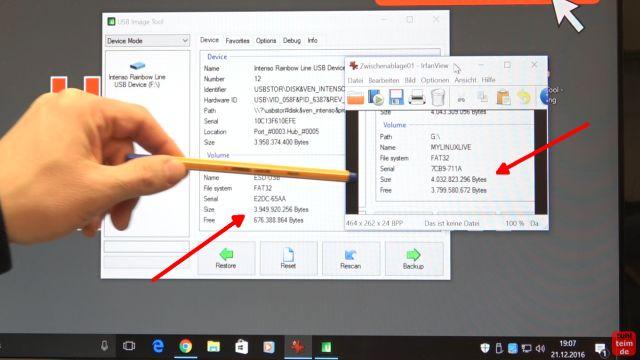 USB Stick kopieren 1 zu 1 - bootfähig - Tool für Windows 10 und 7 - neuer USB-Stick ist aber ca. 82MB zu klein