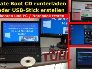 Ultimate Boot CD runterladen auf USB-Stick oder CD - PC oder Laptop testen