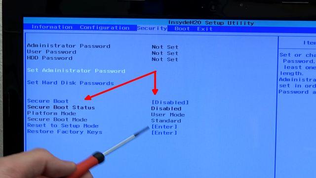 Ultimate Boot CD runterladen auf USB-Stick oder CD - PC oder Laptop testen - im Bios SecureBoot deaktivieren / ausschalten