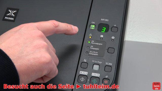 Canon Pixma Drucker Fehler / Error E / E03 wird im Display beim Einschalten angezeigt - Fehlermeldung wird angezeigt - dann hier eine 3