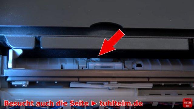 Canon Pixma Drucker Fehler / Error E / E03 wird im Display beim Einschalten angezeigt - im Papiereinzug befinden sich kleinste Papierreste