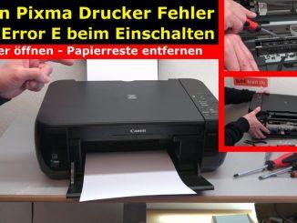 Canon Pixma Drucker Fehler / Error E / E03 wird im Display beim Einschalten angezeigt - Drucker blockiert