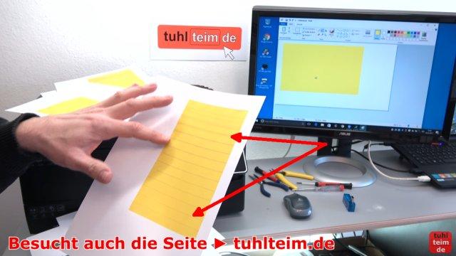 HP OfficeJet druckt falsche keine Farben - Druckkopf per Hand reinigen - Testseite wird mit immer besser