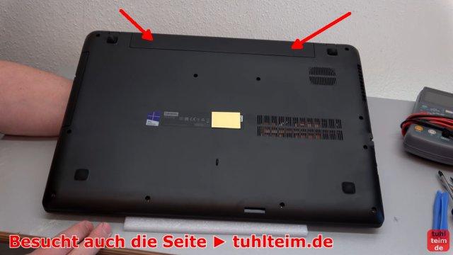 Lenovo V110 Notebook öffnen