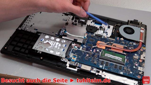 Lenovo V110 Notebook öffnen - Akku SSD Lüfter Tastatur wechseln - Lüfter, Heatpipe, RAM und Festplatte