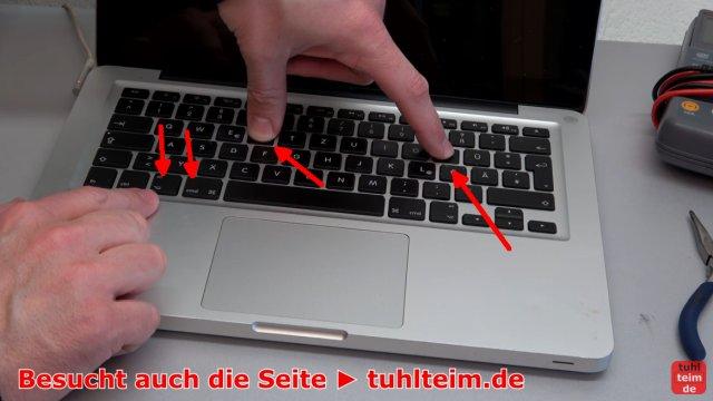 MacBook Hardware Reset | SMC | PRAM - es werden die Tasten P + R + Alt + Command benutzt