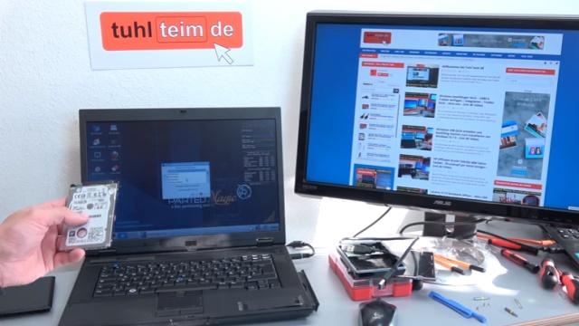 Notebook Bildschirm bleibt schwarz oder geht aus - Ursache: HDD defekt - nach dem Ausbau der Festplatte