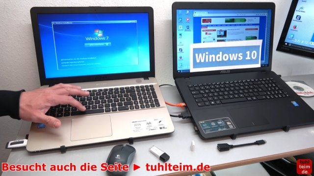 Windows 7 - Treiberproblem xHCI - auf neuem Windows 10 - FreeDos Notebook installieren - Windows 7 bootet zuerst normal vom USB-Stick