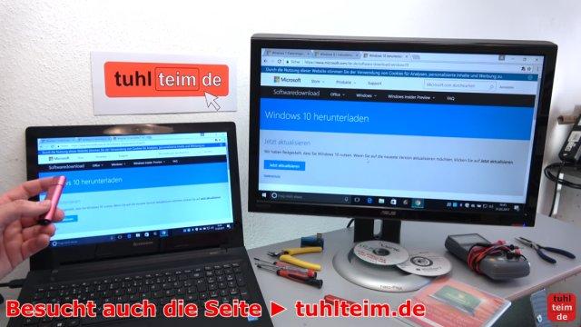 Windows USB-Stick erstellen und bootfähig machen zum Installieren Windows 10 7 8 - ISO-Datei mit Windows runterladen