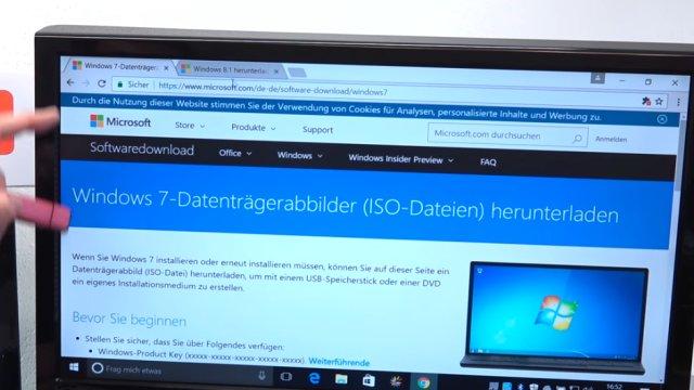 Windows USB-Stick erstellen und bootfähig machen zum Installieren Windows 10 7 8 - Windows 7 Datenträgerabbild herunterladen (ISO-Datei)