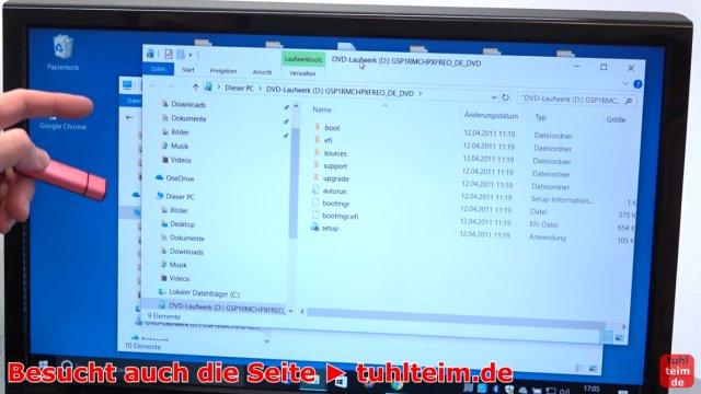 Windows USB-Stick erstellen und bootfähig machen zum Installieren Windows 10 7 8 - Windows 10 mountet die ISO-Datei ohne Extrasoftware