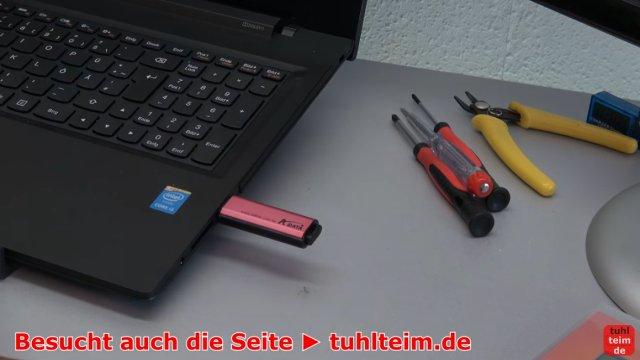 Windows USB-Stick erstellen und bootfähig machen zum Installieren Windows 10 7 8 - USB-Stick einstecken