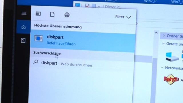 Windows USB-Stick erstellen und bootfähig machen zum Installieren Windows 10 7 8 - diskpart.exe als Administrator aufrufen