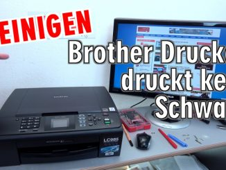 Brother Tintenstrahldrucker reinigen - Druckkopf druckt kein Schwarz