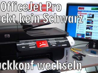 HP OfficeJet Pro druckt kein Schwarz nicht mehr - Druckkopf austauschen