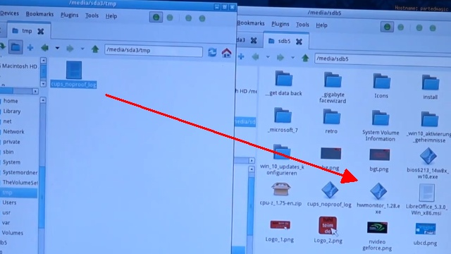 Apple Mac / iMac MacBook HFS+ Festplatte auslesen mit Windows-PC - einfach die Dateien und Ordner mit der Maus auf den USB-Stick ziehen