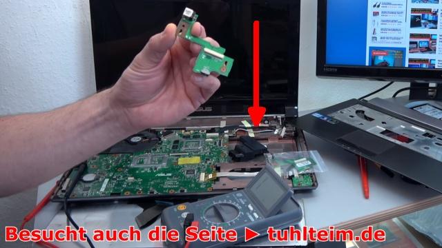 Notebook funktioniert nicht mehr | ohne Funktion - Powerplatine DC Buchse Board tauschen - das DC Board oder auch Power Platine genannt