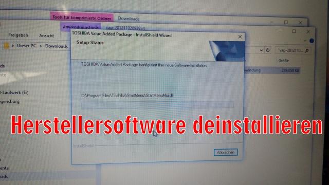 Windows 10 FN-Taste ist immer an - Funktionstaste immer gedrückt - funktioniert invers - vorinstallierte Herstellersoftware / Bloatware deinstallieren