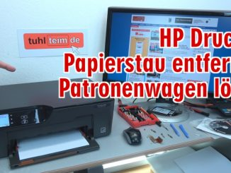 Hewlett-Packard Drucker - Patronenwagen frei geben lösen - HP Papierstau entfernen
