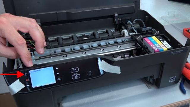 Hewlett-Packard Drucker - Patronenwagen frei geben lösen - HP Papierstau entfernen - Reset durchführen