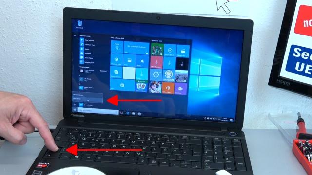 Notebook UEFI-Bios CSM Windows 10 SecureBoot einstellen und von USB oder DVD booten - ins Bios mit Windows 10 - Shift (Hochstelltaste) drücken und gedrückt halten und -Neu starten- anklicken