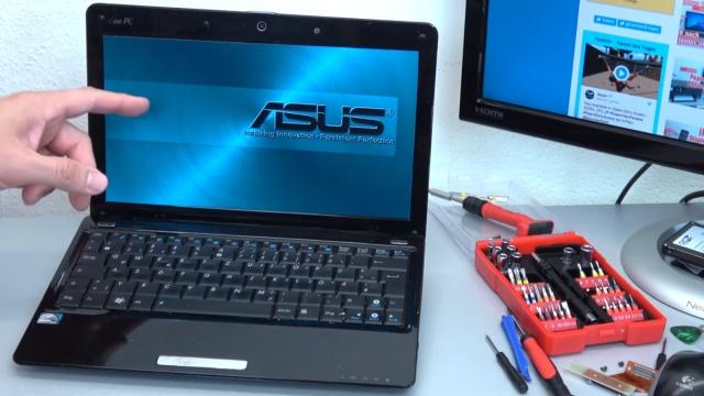 Asus Eeepc Netbook Laptop Offnen Hdd Ssd Ram Lufter Tastatur Tauschen Reparieren Mit 4k Video Tuhl Teim De