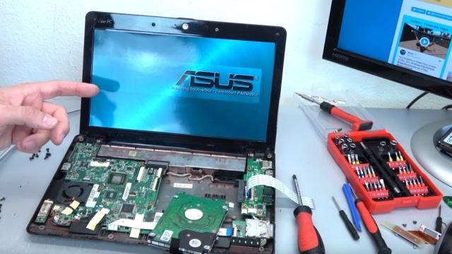 Asus eeePC Netbook / Laptop öffnen - HDD SSD RAM Lüfter Tastatur tauschen - reparieren - Upgrade auf Windows 10 möglich