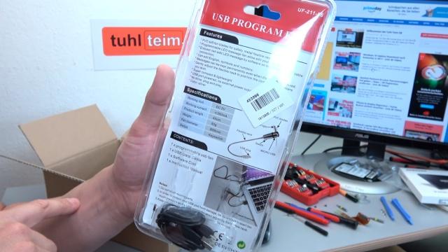 USB Ventilator LED - programmierbar - Packung und Beschreibung