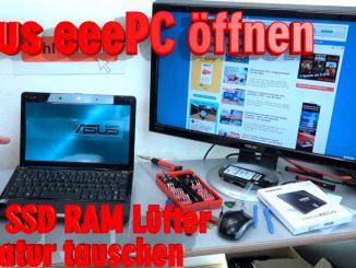 Asus eeePC Netbook / Laptop öffnen - HDD SSD RAM Lüfter Tastatur tauschen - reparieren