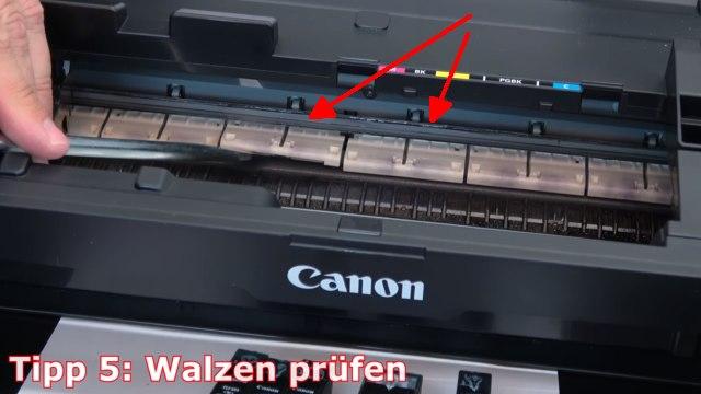 Canon Pixma B200 Fehler - 10 Tipps zur Fehlerbehebung | Error Supportcode 1660 1200 - Walzen und Andruckrollen prüfen