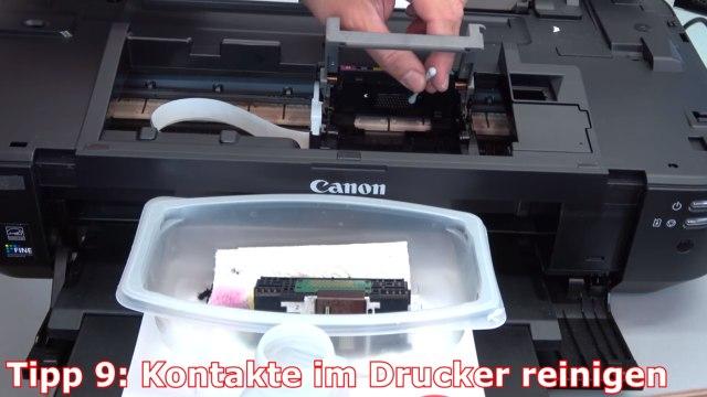 Canon Pixma B200 Fehler - 10 Tipps zur Fehlerbehebung | Error Supportcode 1660 1200 - Kontakte im Drucker reinigen