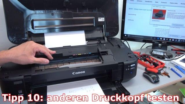 Canon Pixma B200 Fehler - 10 Tipps zur Fehlerbehebung | Error Supportcode 1660 1200 - Ersatzdruckkopf testen