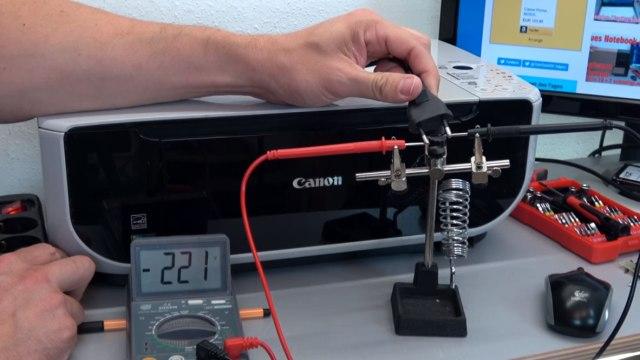 Canon Pixma Drucker: 200V Restspannung am herausgezogenen Netzstecker - anderer Canon Drucker mit 220V Restspannung