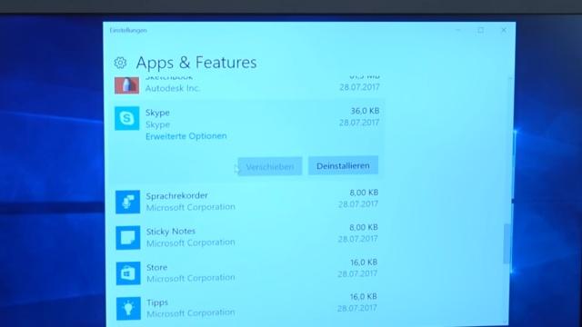 Neues Notebook Bloatware entfernen - Windows 10 + 7 - schneller machen - in Apps & Features weitere Programme deinstallieren