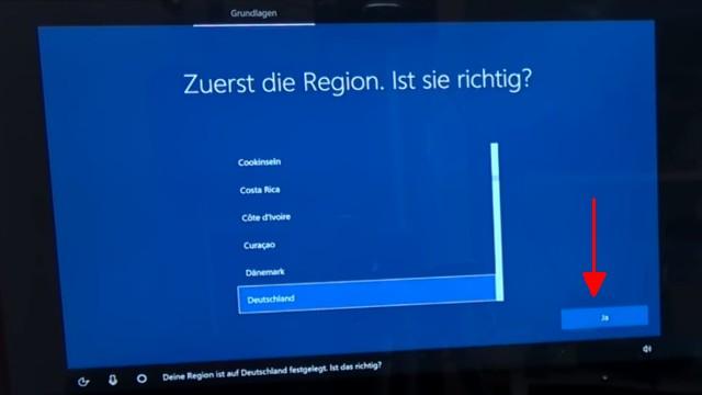 """Windows 10 Installation von USB-Stick mit Sprachsteuerung + Cortana """"Intelligenz""""-Test - Cortana wartet auf """"Ja"""" oder """"Nein"""""""