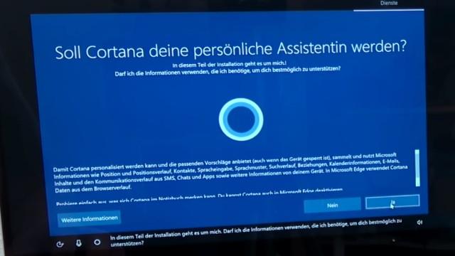 """Windows 10 Installation von USB-Stick mit Sprachsteuerung + Cortana """"Intelligenz""""-Test - nicht jeder benötigt die Sprachassistenz"""