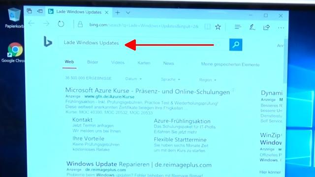 """Windows 10 Installation von USB-Stick mit Sprachsteuerung + Cortana """"Intelligenz""""-Test - Sprachbefehle im laufenden Windows enden meistens als Bing-Suche"""