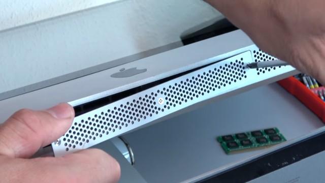 Apple iMac Pro RAM Upgrade - RAM erweitern - die Schrauben sind normale Kreuzschlitzschrauben