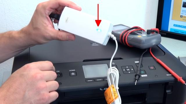 Canon Pixma Drucker lässt sich nicht mehr einschalten - Netzteil testen - Netzkabel testen z.B. mit Notebooknetzteil