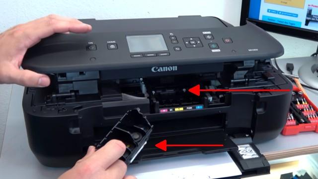 Canon Pixma Drucker lässt sich nicht mehr einschalten - Netzteil testen - Test ohne Druckkopf und ohne Tintenpatronen