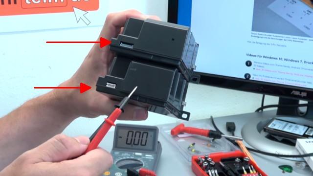Canon Pixma Drucker lässt sich nicht mehr einschalten - Netzteil testen - zwei nur fast baugleiche Netzteile