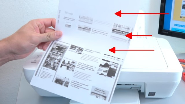 Canon Pixma druckt kein Schwarz - Patronen prüfen / wiegen - leer | voll | defekt - Ausdruck mit Fehlstellen und Streifen