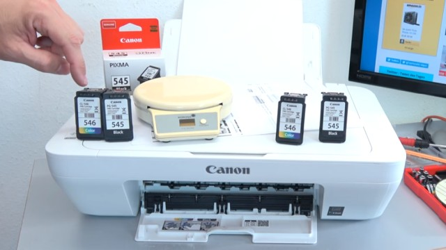 Canon Pixma druckt kein Schwarz - Patronen prüfen / wiegen - leer | voll | defekt - Tintenpatronen mit Briefwaage wiegen