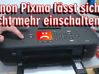 Canon Pixma Drucker lässt sich nicht mehr einschalten - Netzteil testen