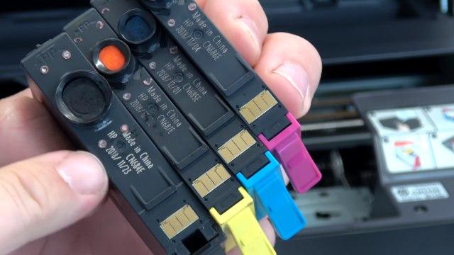 Hewlett-Packard Drucker Fehler Tintensystem - 0xc19a - aus und wieder einschalten - OfficeJet DeskJet Photosmart Envy - Chips der Tintenpatronen und Datum prüfen